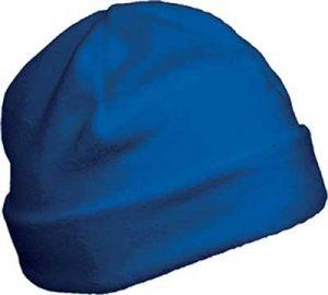 Bonnet polaire personnalisable bleu pour association étudiante et BDE
