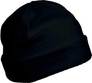 Bonnet polaire personnalisable noir pour association étudiante et BDE