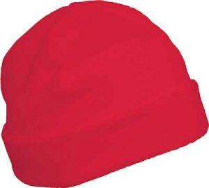 Bonnet polaire personnalisable rouge pour association étudiante et BDE