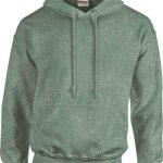 Sweat personnalisé vert noir à capuche