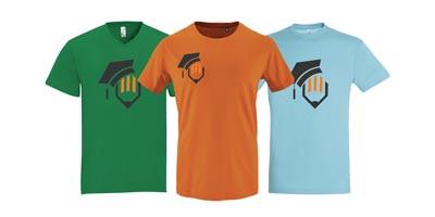 T-shirt bde personnalisable avec logo brodé pour les BDE